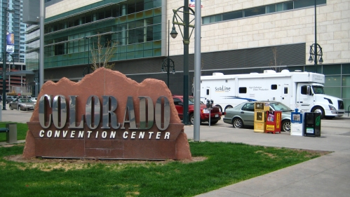 Here we have the SolidLine Truck parked outside of the Colorado Convention Center in Denver, CO