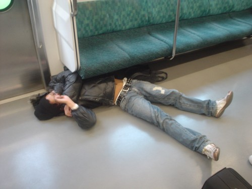 Man I sure was tired on the train ride into the office.