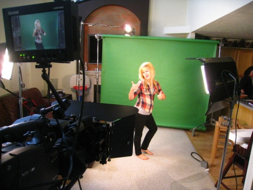 Chelsey, one of the teen interviews, did some poses for her introduction.